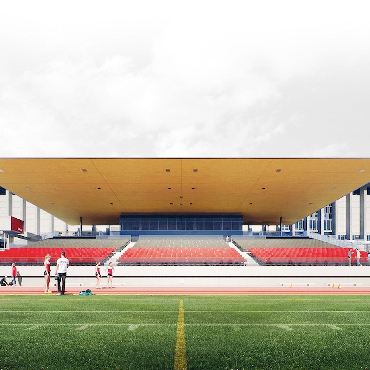 Sky Windows SFU Stadium Glass Field