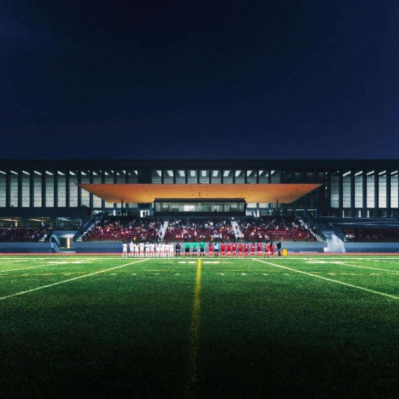 Sky Windows SFU Stadium Night Time